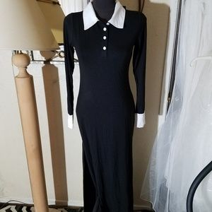Dresses & Skirts - NWT Small black and white floor length Dress